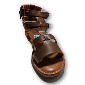 Mia Brown Faux Leather Gladiator Sandals 7 & 8.5